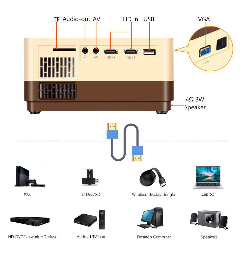 BYINTEK K7 Mini 1080P (opcional Android TV caja) Wifi portátil LED proyector de vídeo para Smartphone 3D 4K de cine en casa