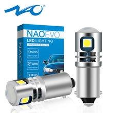 NAO-bombilla LED antiniebla para coche, lámpara de marcha atrás de estacionamiento de automóviles, H21W, T4W, BA9S, ba29s, 12V, BAY9S, 24V, H6W, H5W, 6000 SMD, blanco