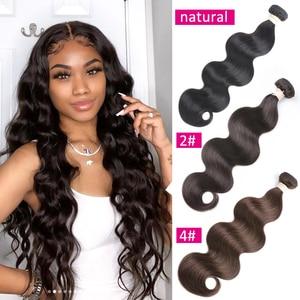 Image 2 - Beaudiva Body Wave Haar Natuurlijke Kleur, #1,#2, #4 Kleur Bundels Braziliaanse Haar Bundel Body Wave 100% Remy Human Hair Bundels