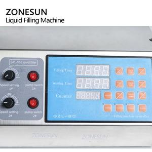 Image 2 - Zonesun máquina de enchimento de líquido, manual elétrico digital para controle de maquinaria, tubo de garrafa pequena, máquina de enchimento de óleo de suco, água mineral