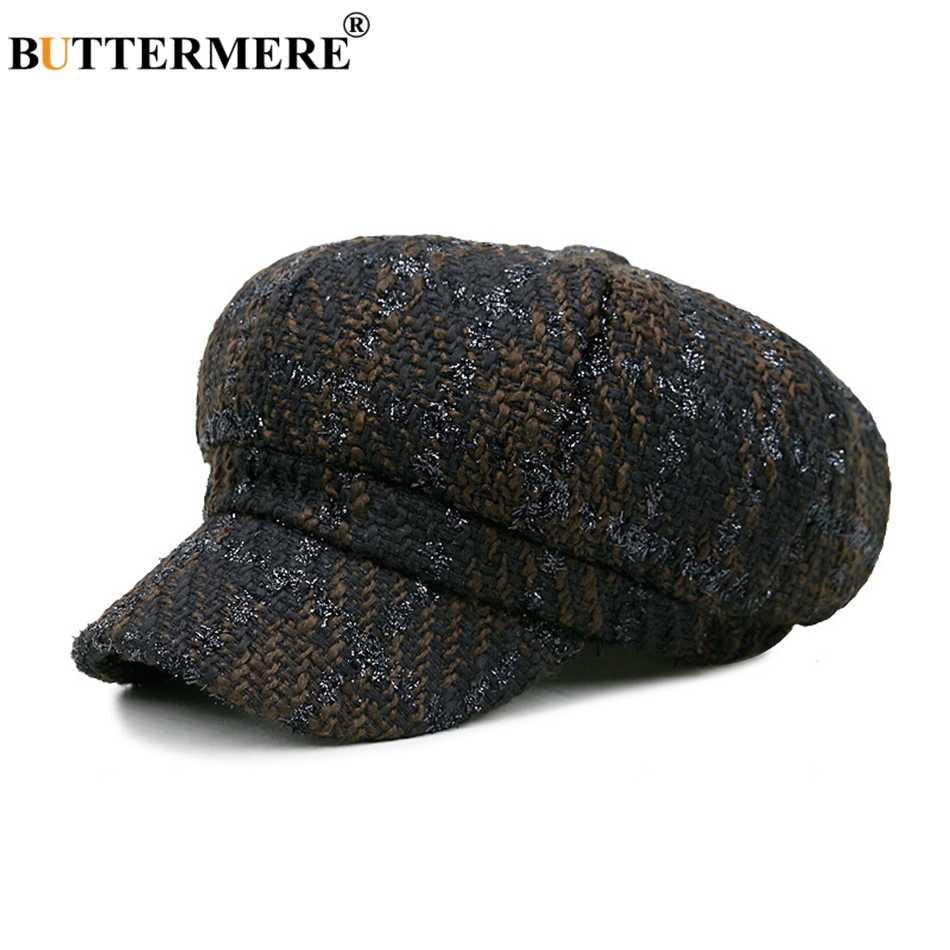 BUTTERMERE ผ้าฝ้าย Newsboy หมวกผู้หญิงฤดูใบไม้ผลิฤดูใบไม้ร่วง Baker Boy VINTAGE แปดเหลี่ยมหมวกหมวก Lady Elastic Casual Beret อังกฤษ