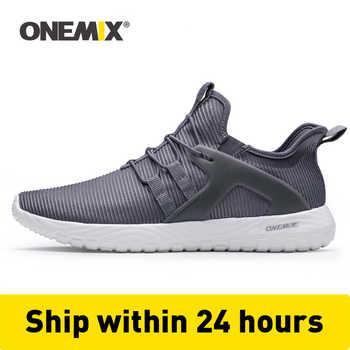 ONEMIX 2020 Männer Laufschuhe Frauen Turnschuhe Leichte Atmungsaktive Mesh Weiche Beleg Auf Outdoor Jogging Walking Tennis Sport Schuhe