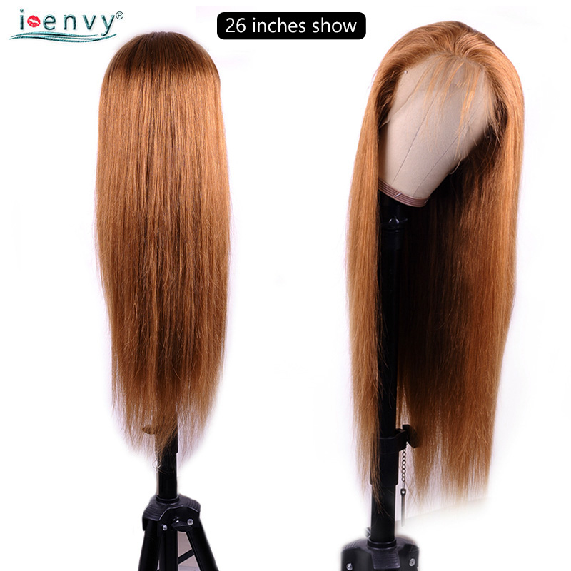 Image 5 - I Envy Ginger Blonde Lace Front Wig Straight Pre Plucked 13X4 Lace Front Wigs Colored 30 Lace Wig Human Hair Blonde Non Remy-in Lace Front Wigs from Hair Extensions & Wigs