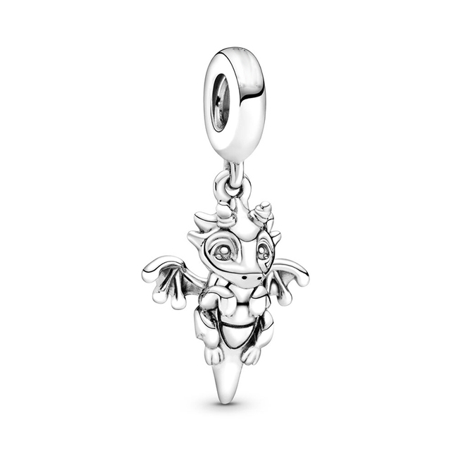 2Pcs/Lot Cute Tree Men Hedgehog Mermaid Charm Pendant fit Pandora Bracelets Necklaces for Women Jewelry Making Accessories Gift