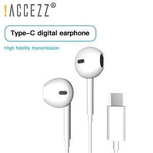 Image 1 - ! ACCEZZ Tipi C Kulaklık USB C Kulakiçi Kulak Spor Ga mi ng mikrofonlu kulaklık Xiao mi mi 8 9 Huawei Pro p20 Mate 10 Samsung S10