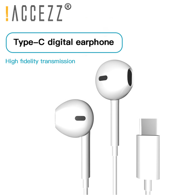 ! ACCEZZ Tipi C Kulaklık USB C Kulakiçi Kulak Spor Ga mi ng mikrofonlu kulaklık Xiao mi mi 8 9 Huawei Pro p20 Mate 10 Samsung S10