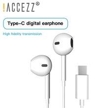 ¡! ACCEZZ intrauditivos auriculares con micrófono para USB C, deportivos, para videojuegos, Xiaomi Mi 8 9, Huawei Pro, P20, Mate 10, Samsung S10