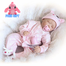 55cm Soft Silicone Reborn Baby Doll Toy and clothes Lifelike For Girl Newborn Girls Doll Birthday