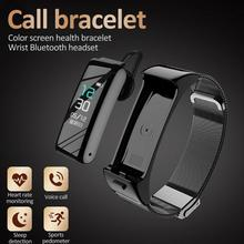 Монитор Счетчик шагов спортивный умный браслет Здоровье часы Новые B6 беспроводные Bluetooth наушники умный Браслет 2 в 1 Частота сердечных сокращений
