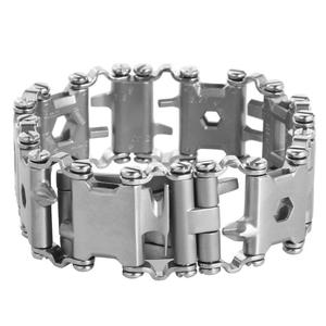 Image 5 - 29 in 1 Multifunction Tool Tread Bracelet Stainless Steel Outdoor Bolt Driver Tools Kit Travel Friendly Wearable Multitool Tool