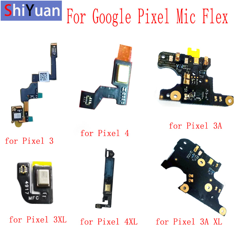 For Google Pixel 4 XL 4XL Mic Flex Cable Microphone Module For HTC Google Pixel 3 3XL Pixel 3A XL Microphone Replacement Parts