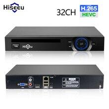 Hiseeu enregistreur vidéo en réseau, 2HDD, 25CH 5MP 32CH 1080P 8CH 4K, H.264/H.265 NVR DVR, Onvif 2.0, pour caméra IP 2 SATA XMEYE P2P