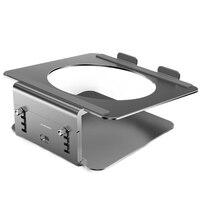 Supporto per Laptop da tavolo JIUSHARK supporto ergonomico per Notebook in alluminio con supporto per Notebook rotazione 360 per Laptop sotto 17 pollici, grigio