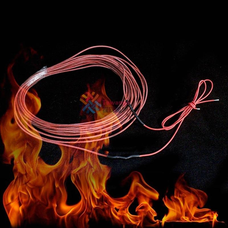 Gran oferta, Cable de calefacción de fibra de carbono de bajo costo, Cable de calefacción para suelo cálido, Cable de línea directa para controlador eléctrico de cría de invernadero, artículos DIY 6,3 enchufe plano de púas resorte terminal frío cableado enchufe de codo primavera