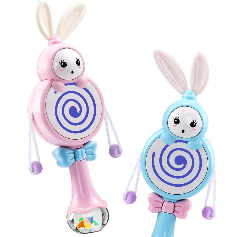 0-1-Year-Old Baby-Bite Music Rattle Children'S Educational Early Childhood Shou Yao Gu Baby Toys Wholesale