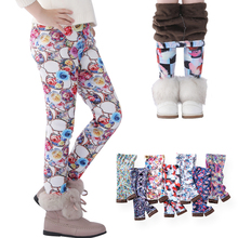 SheeCute Girls leggings Toddler & Kids Thick Warm Pants Children Winter Autumn Print Flower Pants SCW101