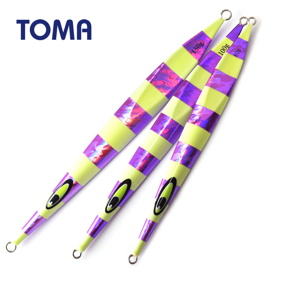 TOMA Metal Jigs <font><b>Lures</b></font> Fishing 80g 100g <font><b>150g</b></font> Deep Sea Saltwater Fishing Jigs Hard Bait Lead Fish Speed Sinking <font><b>Jigging</b></font> <font><b>Lure</b></font> image