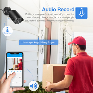 Image 3 - Techege 2MP 48V POE ip camera Audio Record Night Vision Waterproof IP66 Outdoor P2P ONVIF Motion Detection IP Cam for CCTV NVR