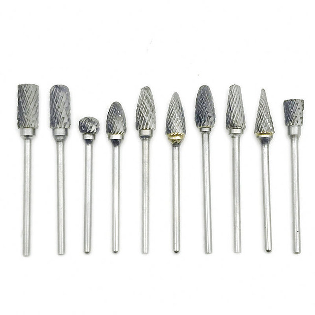 2.35x6mm Tungsten Steel Carbide Bur Cutter Rotary Tool Burr Double Diamond Cut Rotary Dental Polishing Tools 2