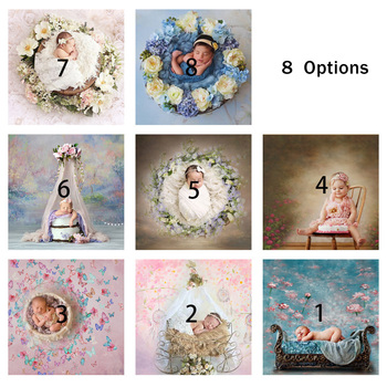 summer beach flower birthday party photography backdrops baby shower birthday backgrounds for photo studio blue sky white clouds Newborn Photography Backdrops Baby Birthday Party Photo Background Portrait Backdrops for Photo Studio Photophone