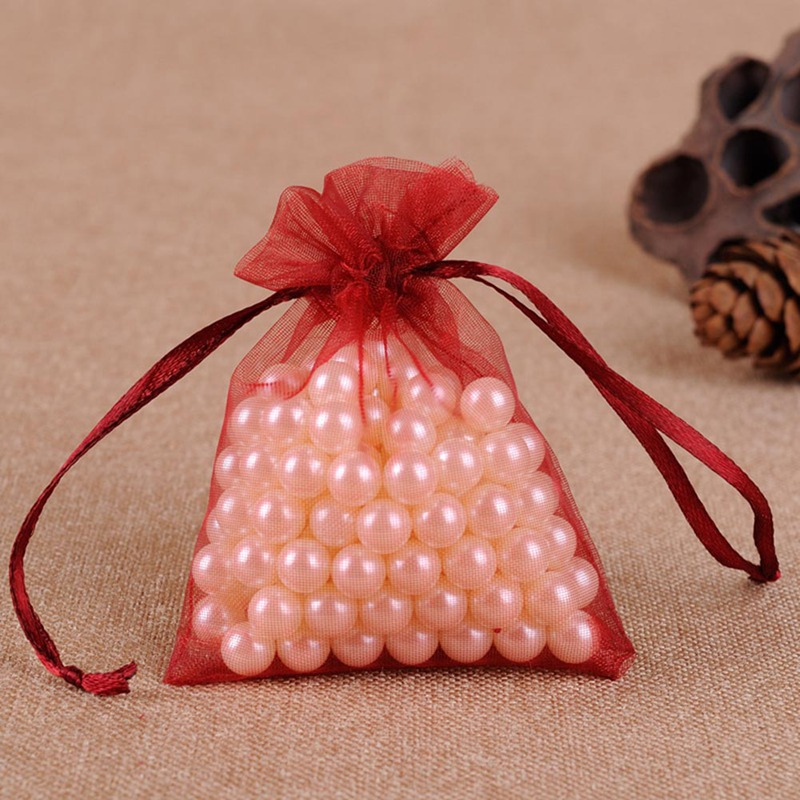 50PCS/Lot 9x12 Cm Organza Drawstring Bags Wedding Pouches Nice Gift Bag Selection Jewelry Package Gauze Candy Gift Bag Dropship