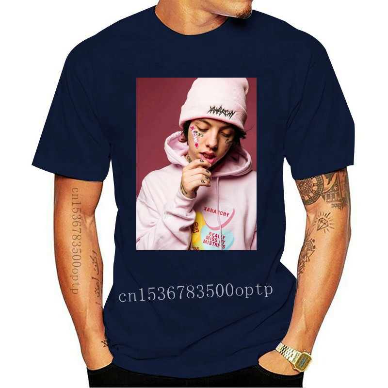 Lil Xan Men's Clothing T Shirts Tees Couples Funny Brand Clothes Slim Fit Blacking