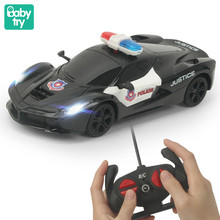 1:24 Remote Control Police Racing Car Model Light Electric Carro Juguetes