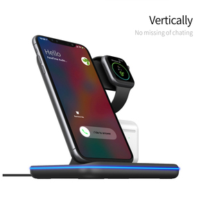 Image 2 - Charging Dock Holder For Iphone XS max 11 Pro max Iphone 8 Plus Silicone charging stand Dock Station For Apple iwatch Airpods