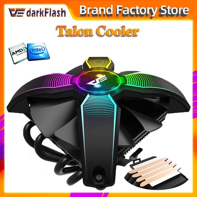 Darkflash愛国コンピュータケースcpuクーラーラジエーター 4 銅管プロセッサクーラーcpuクーラー用の冷却ファンAM2/AM3/AM4