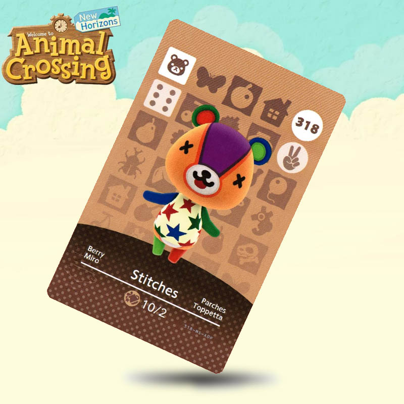 318 Stitches Animal Crossing Card Amiibo Cards Work For Switch NS 3DS Games