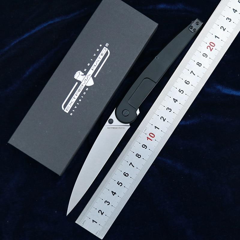 LEMIFSHE 2020 EXTREMA RATIO BF3 Dark Talon Aluminum N690 folding blade ball bearing outdoor tactical camp hunt EDC tool knife