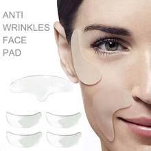 Anti enrugamento peito remoção remendo reutilizável silicone rugas remoção adesivo rosto testa pescoço olho adesivo almofada anti rugas envelhecimento