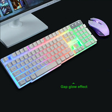 Mouse-Set Ergonomic-Keyboard-Kits Gamer Laptop Colorful Backlight LED USB Laser Wired