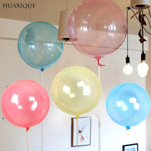 5pcs Round Crystal Clear Bobo Balloons 18/24/36