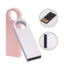 Metall Mini USB-Stick 128GB 64GB 32GB 8 GB Metall Stift Stick Stick 128 64 32 16 8 GB Flash Speicher Cle USB Stick für Hochzeit