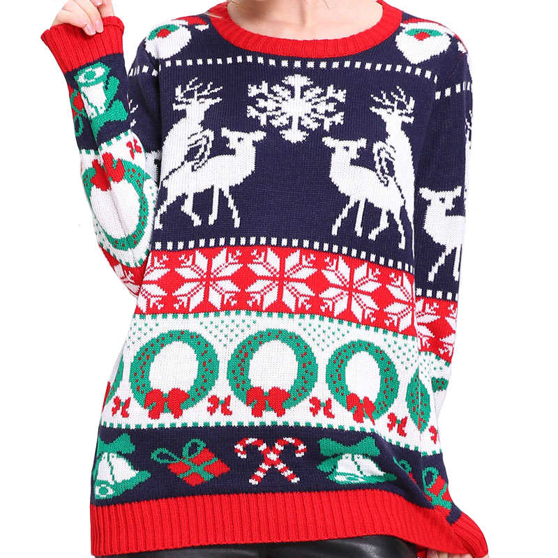 Knitted Tacky Humping Reindeer Ugly Christmas Sweater for