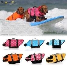Dog Life Jacket Dogs Flotation Life Vest With Reflective Stripes Rescue Handle Adjustable Puppy Swimsuit Safety Preserver