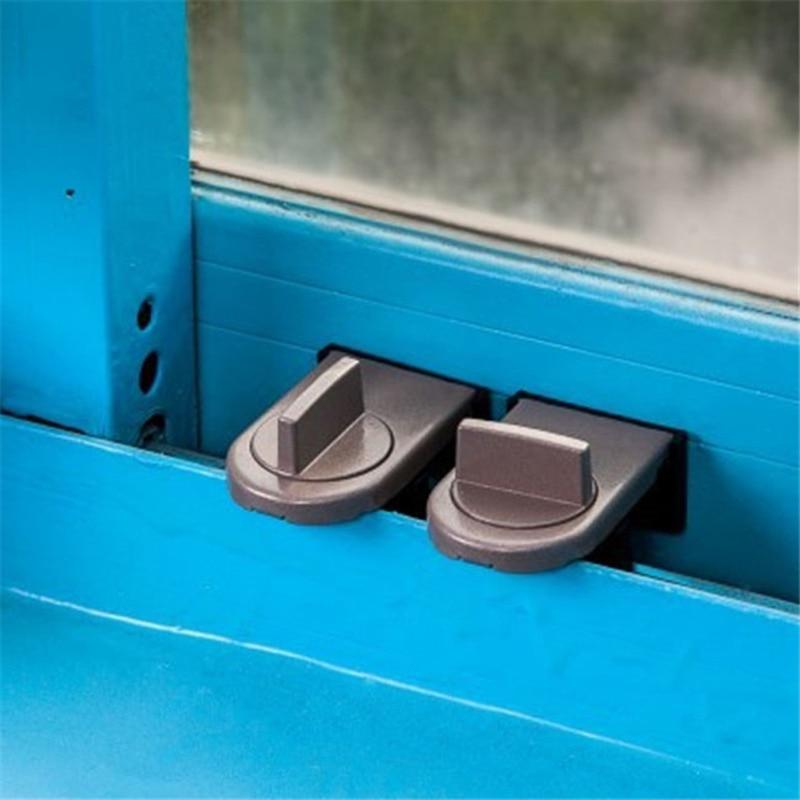 Sliding Sash Stopper Cabinet Locks Straps Doors Security Anti-theft Lock Window Sliding Door Baby Kids Child Safety Lock
