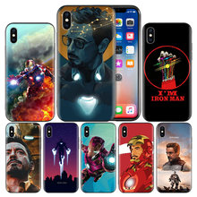 Avengers Endgame Tony Stark Iron Man Soft TPU Cover Case For Apple iPhone 7 8 6 6S Plus X XS MAX XR 5 5S 5C SE 10 Ten XI XIR XI(China)
