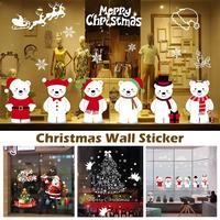 Christmas Window Stickers Christmas Decoration Window Stickers Removable Stickers Window Display Xmas Santa Stickers