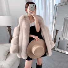 real fur fox fur coat design ladies wint