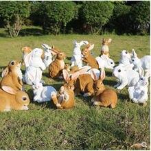 Европейский Кролик Скульптура ремесла украшения вилла сад домашний