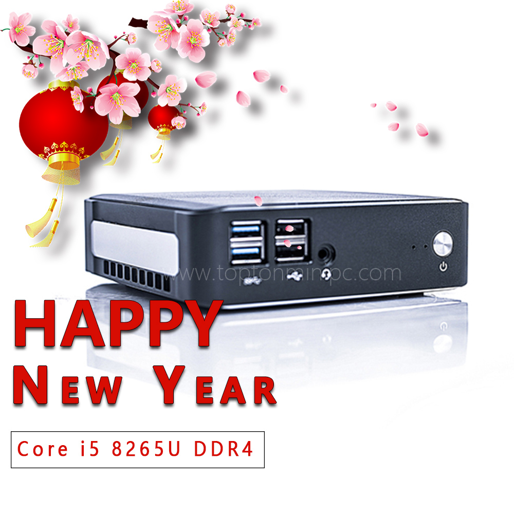 2019 New Mini PC Intel I5 8265U  2*DDR4 32GB RAM NVME M.2 SSD Pocket PC Nuc Desktop Computer Windows 10 Pro Type-c 4K HDMI2.0 DP
