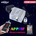 Pırıltı 10W Fiber optik hafif motor Bluetooth APP & müzik kontrol cihazı RF denetleyicisi ile yıldız tavan LED ışıkları kaynağı sürücü yeni
