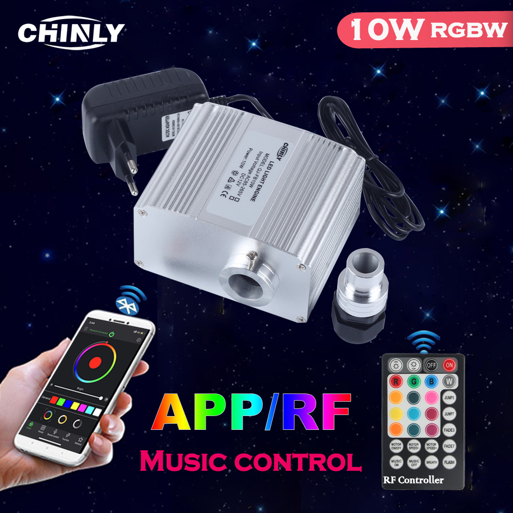 Twinkle 10W Fiber Optic Light Engine Bluetooth APP & Music Control With RF Controller Star Ceiling LED Lights Source Driver NEW