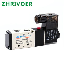 5Way 2-позиционный Электрический электромагнитный клапан 4V210 1/8