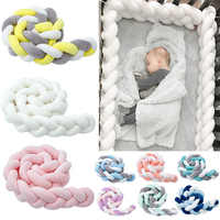 Hot 1-9 Baby Bed Bumper 1.5M/2M/3M Fashionable Twist Knot Crib Bumper Baby Nest Protector Newborn Safety Room Decor Dropshipping