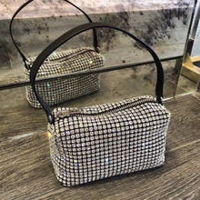 2021 Frauen Handtasche Kupplung Mode Vintage  Handtasche Diamant Messenger Handtasche Dame Shiny Lady, one-shouldered, cross-leg