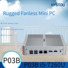 Hystou mini pc duplo lan core i5 7200u 7260u 7267u ddr4 núcleo íris gráficos 540 mini desktop hdmi dp wifi