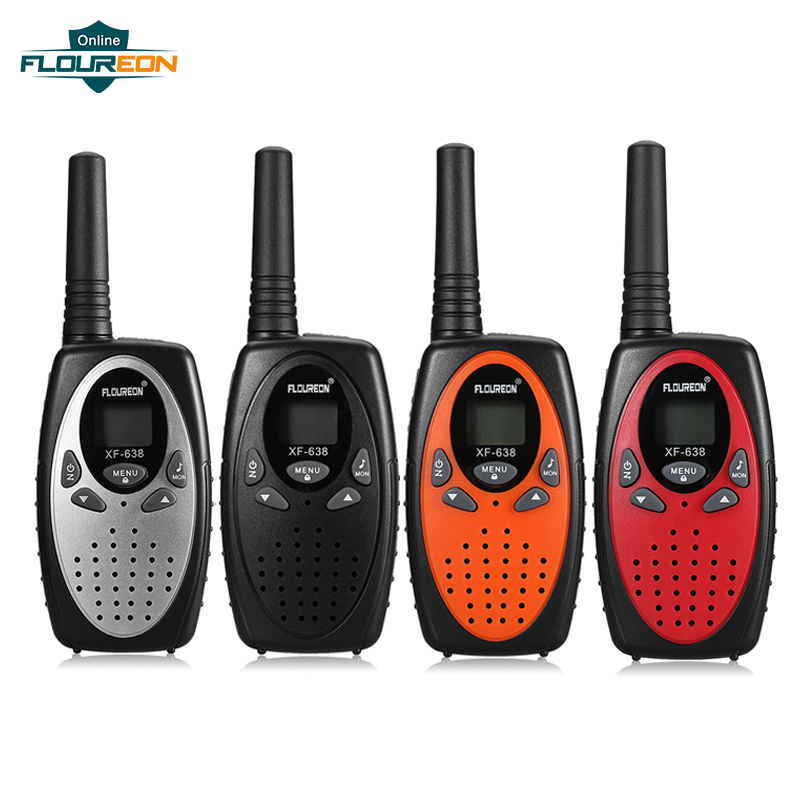 Floureon 22/8 Channels 2pcs Children Walkie Talkie FRS/GMRS 462/467MHZ PMR 446MHZ VOX Two Way Radio 3 Miles Kids Communicator